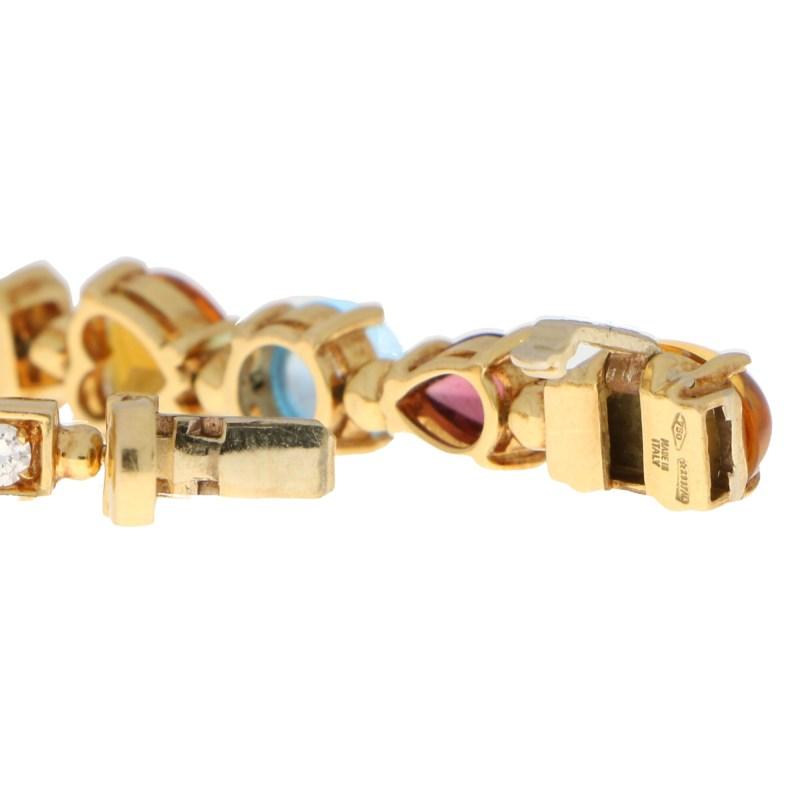 Vintage Bvlgari Allegra Multi-Gem Bracelet