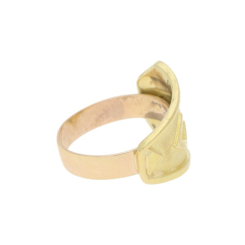 Etruscan Diamond Band Ring in Yellow Gold