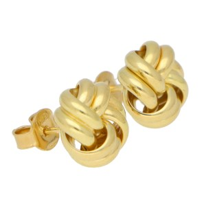 Woven Knot Stud Earrings