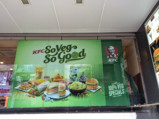 Like this one. Colonel Sanders never saw this coming. 100% veg food at KFC!
