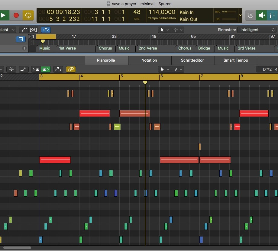 Save a prayer - Logic Pro Arrangement