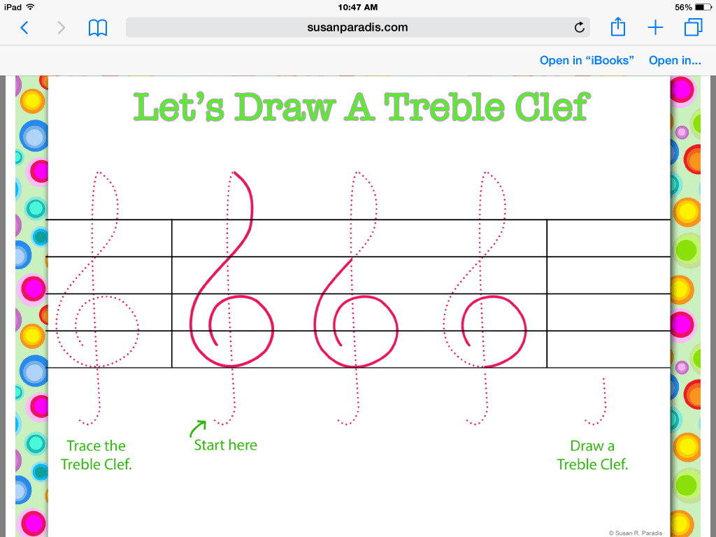 Trace Worksheet Bass Clef