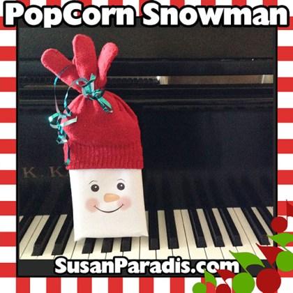 Popcorn Snowman Christmas Gift