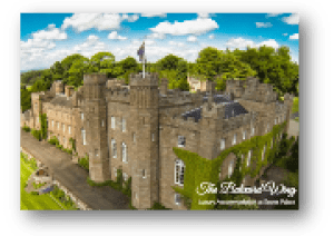 picture of scone palace an link to balvaird wing brochure
