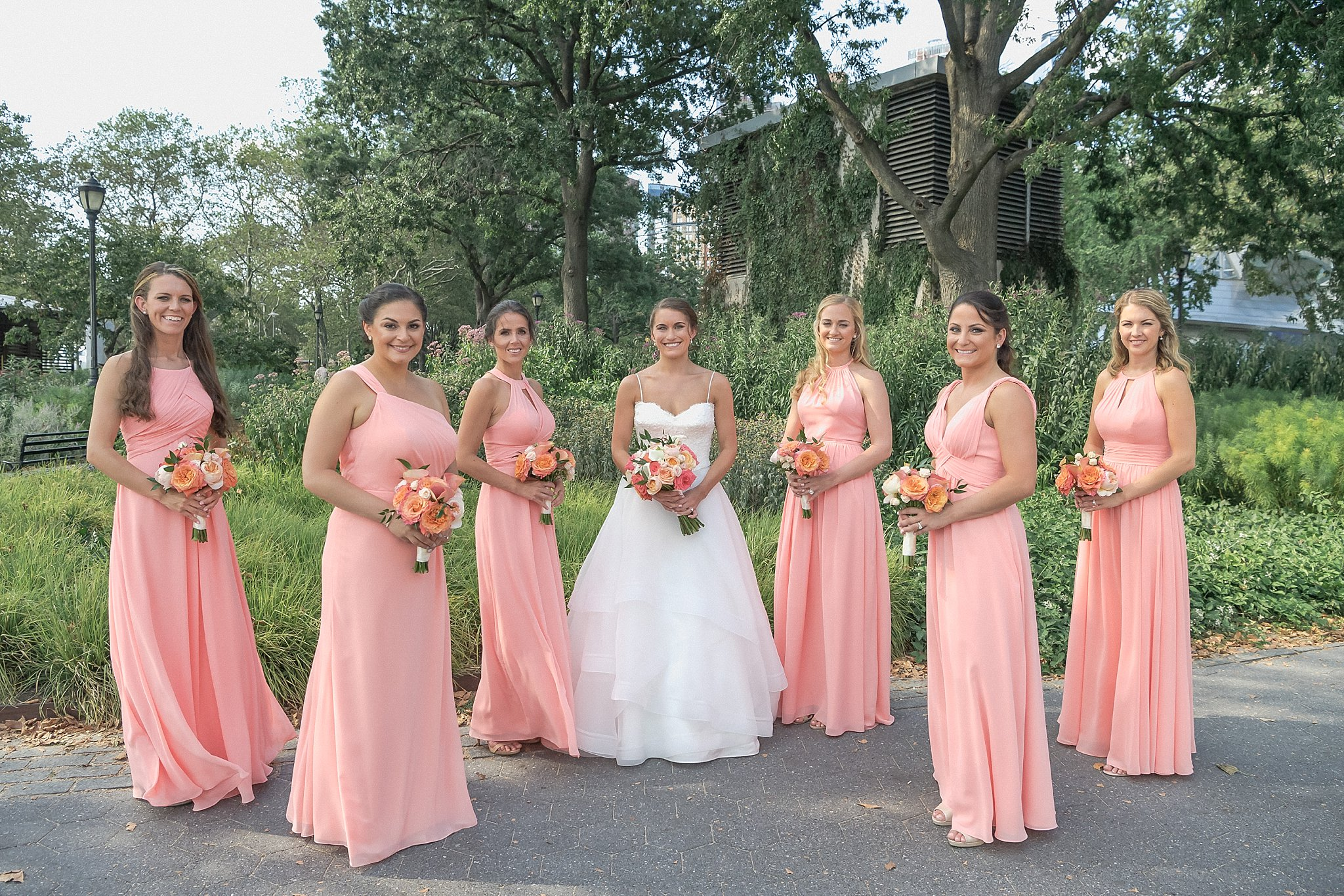 Bride and her bridesmaids Wedding Day Look