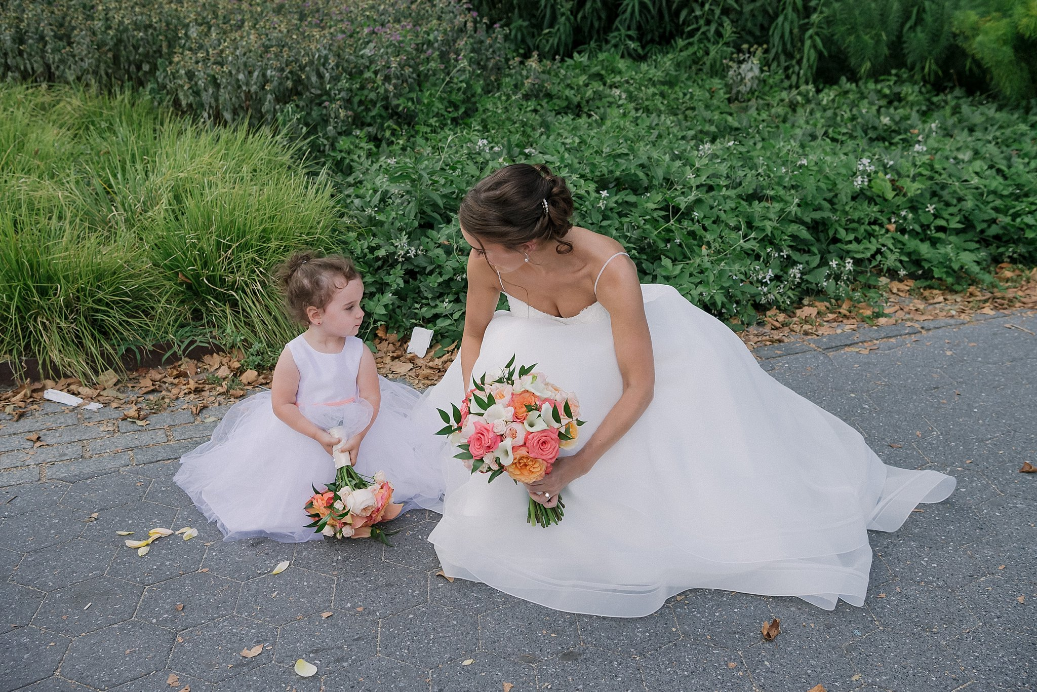 Bride and a little bridesmaid