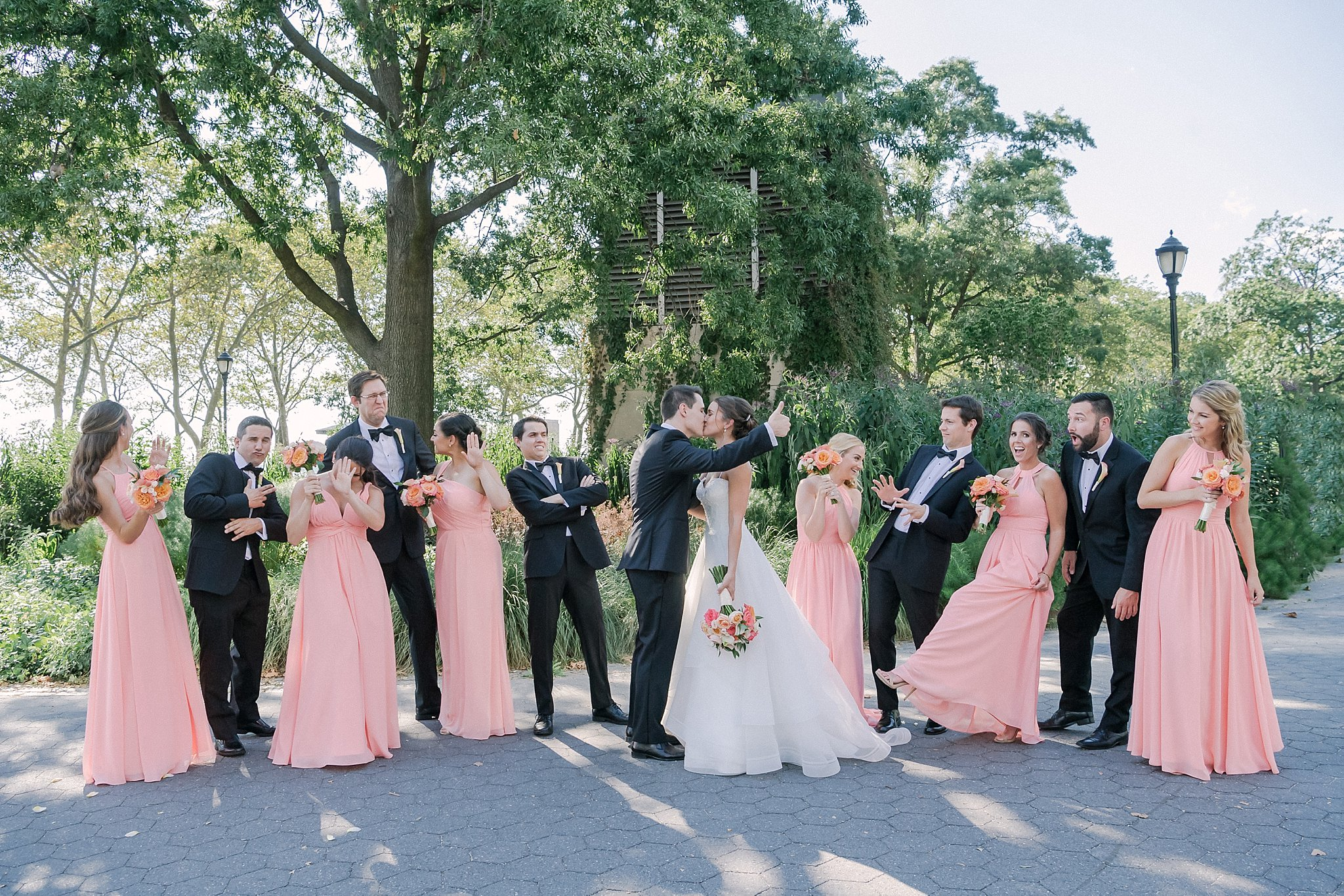 Fun Shoot of married couple in Battery Park with Susan Shek Wedding Photography in New York City, NY.