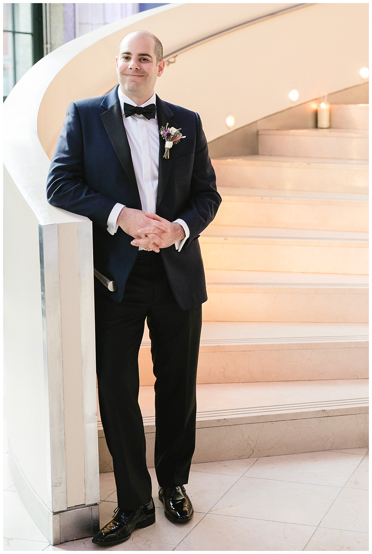 A portrait of a groom on a wedding day at Guastavinos in New York City.