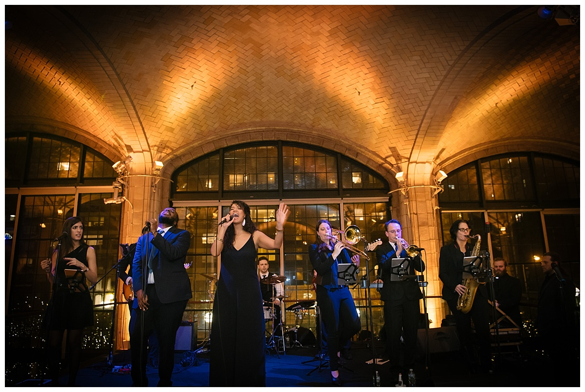 A live performance by Storytellers during a wedding reception at the Guastavinos in New York City.
