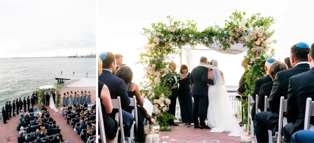 A jewish wedding ceremony at Liberty Warehouse, Brooklyn New York.
