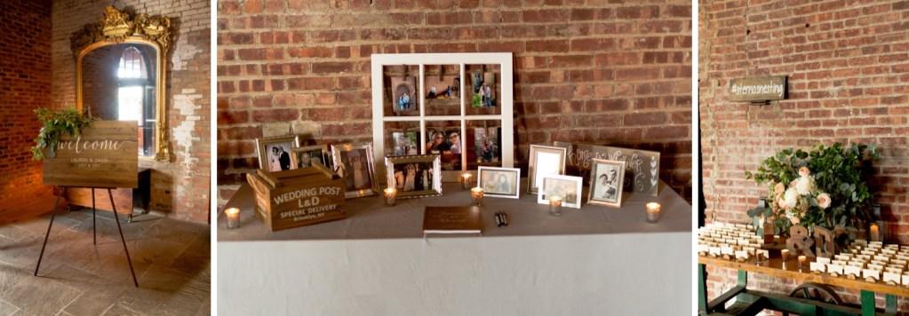 A reception setting at Liberty Warehouse, Brooklyn New York.