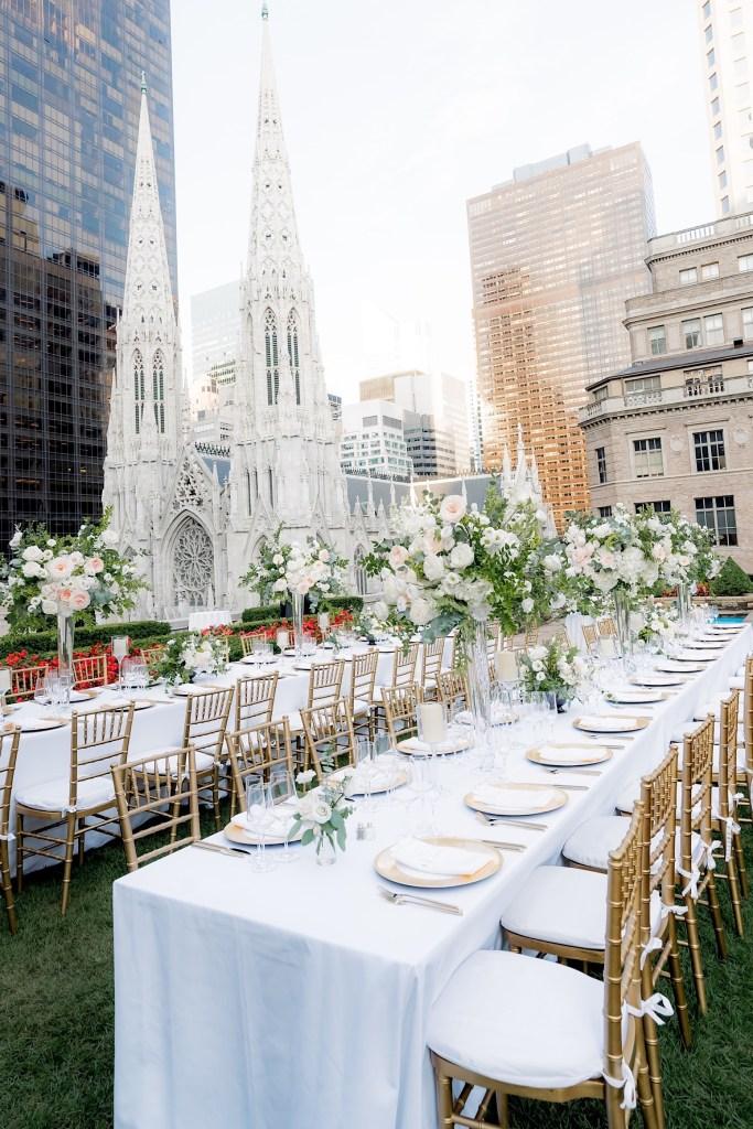 reception dining details at 620 loft and garden