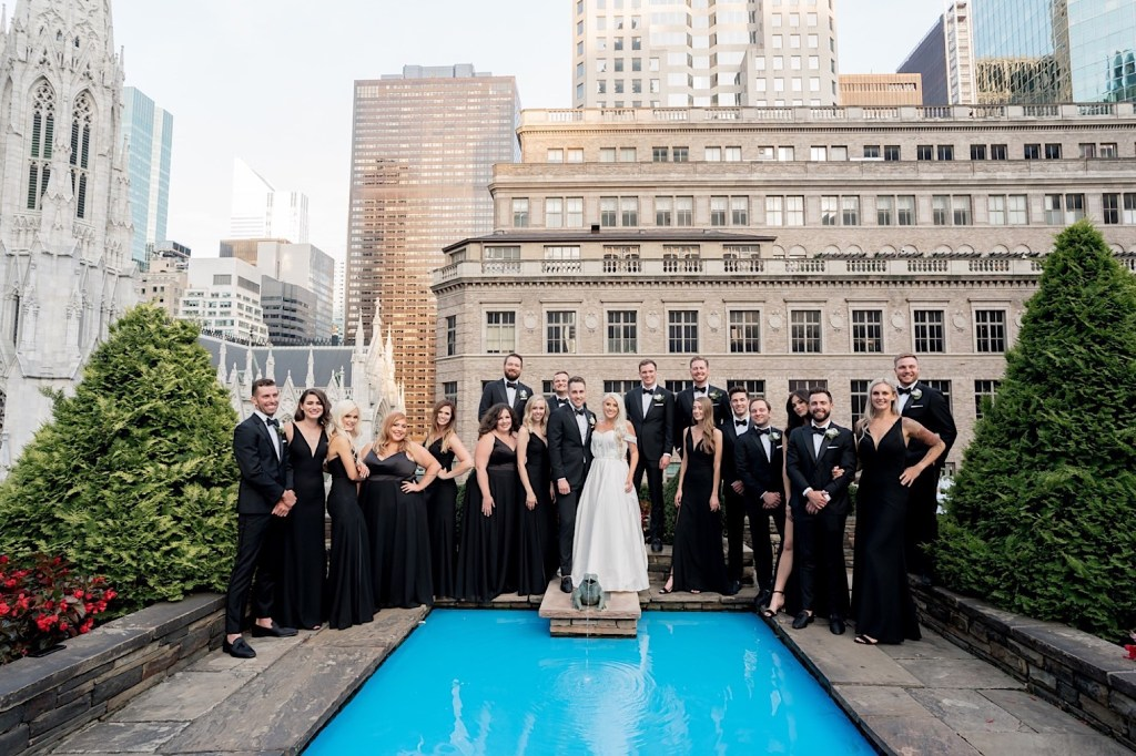 wedding party at 620 loft and garden
