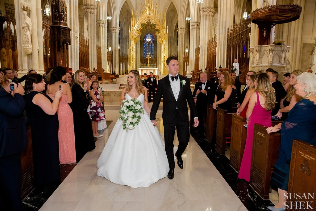 Ceremony at St Patricks Cathedral before the The Plaza Hotel Wedding Reception