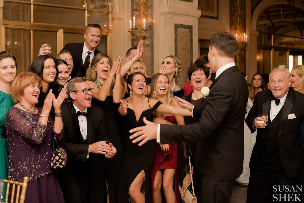 Candid photo of the guests at The Plaza Hotel