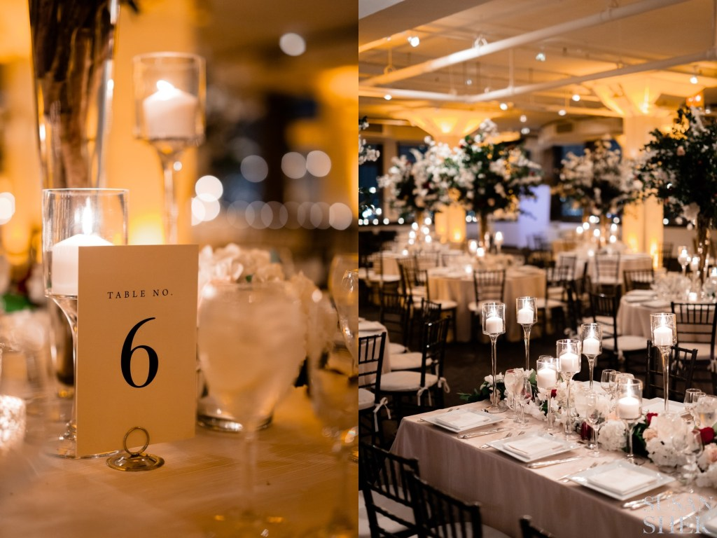 reception details at tribeca rooftop