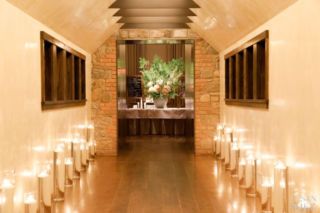 candles at blue hill stone barns