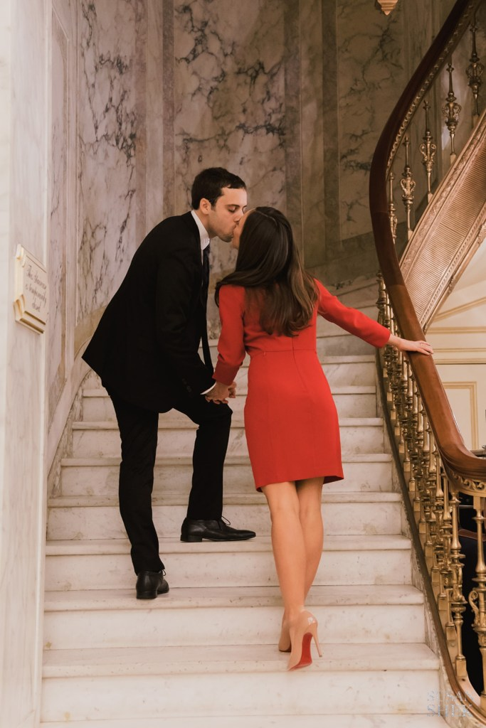 plaza hotel engagement photo session