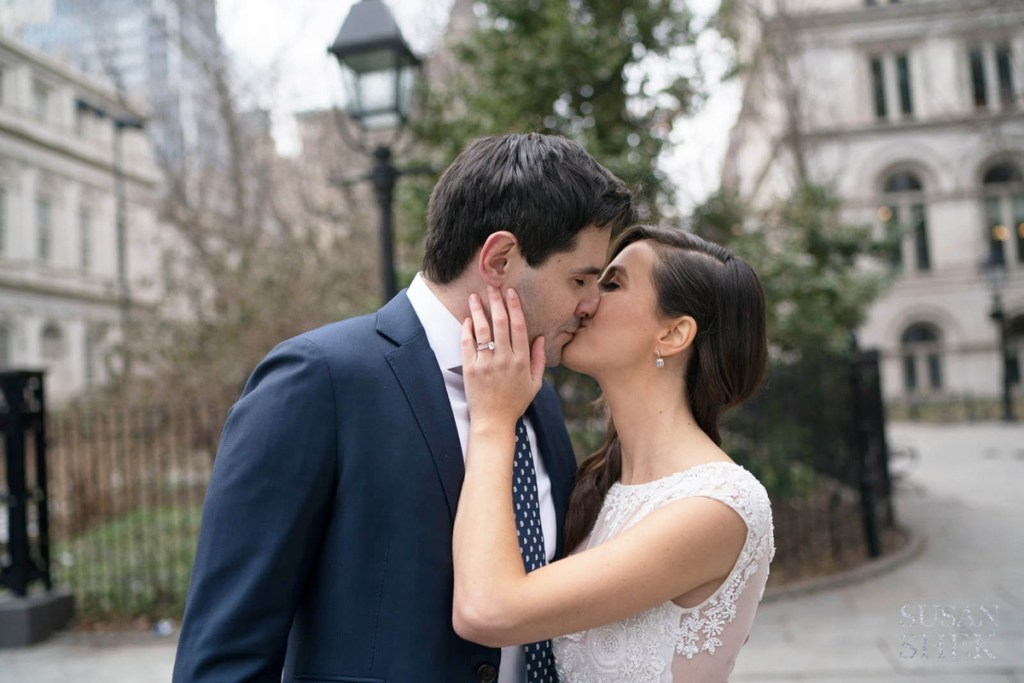 Kissing at City Hall Park