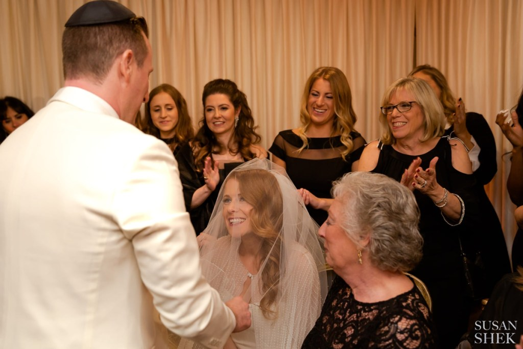 the bedeken is veiling of the bride in jewish wedding traditions