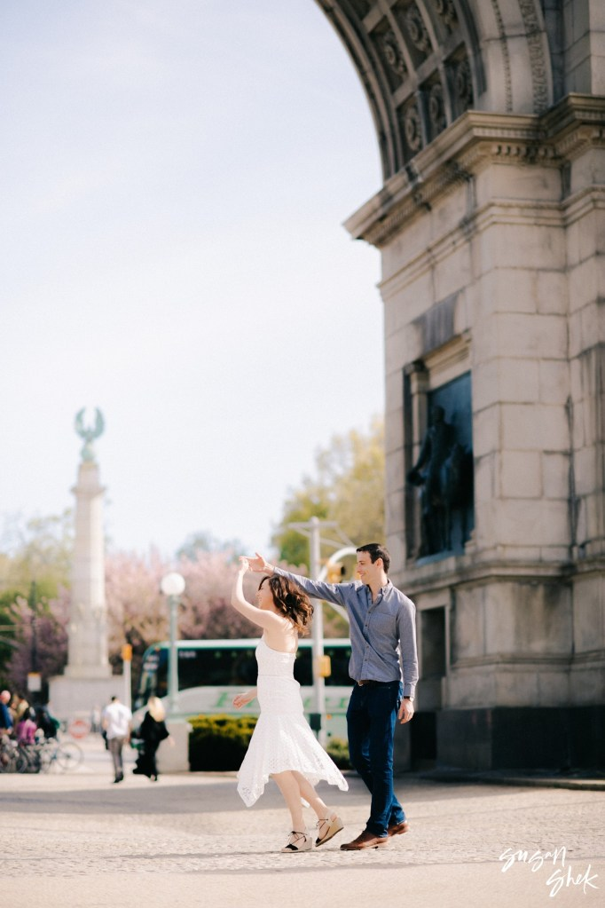 Grand Army Plaza Engagement, Engagement Shoot, NYC Engagement Photographer, Engagement Session, Engagement Photography, Engagement Photographer, NYC Wedding Photographer