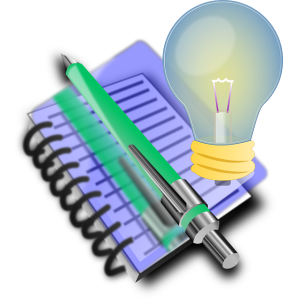 ideas light bulb note book public domain