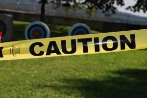 caution tape warning sign public domain