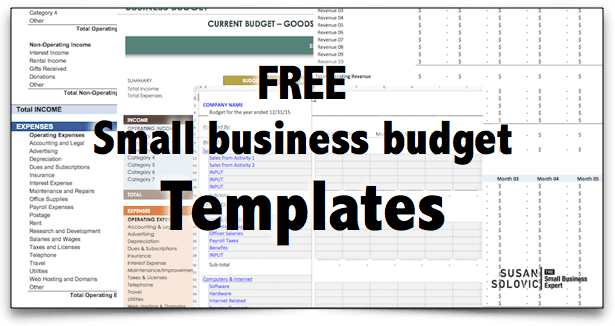 2017 Guide To The Top Free Small Business Budget Templates