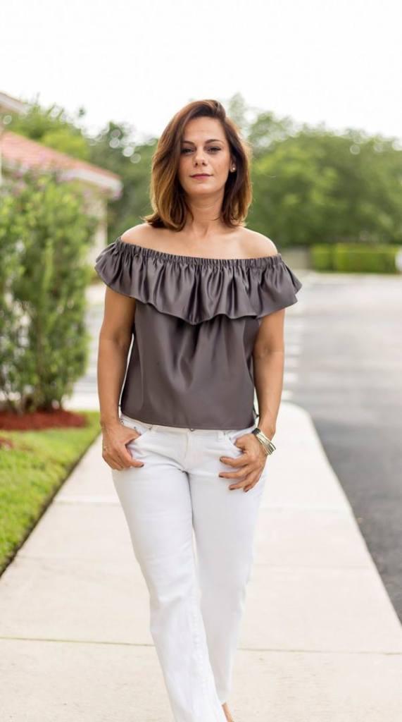 Off-shoulder Top - Susan Tailors