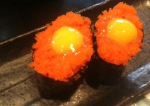 Tobiko with Quail Egg Yolk Recipe