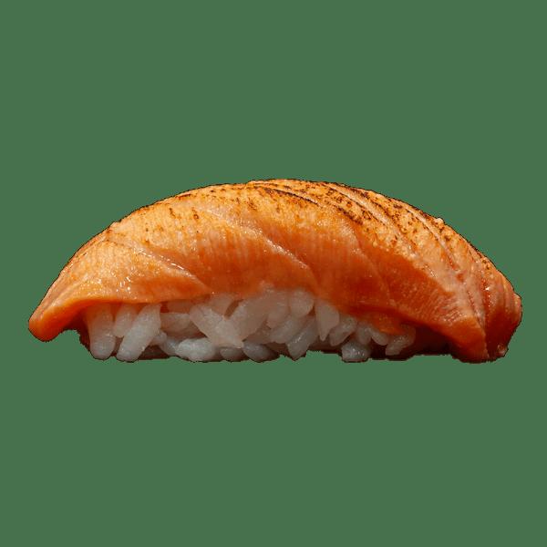 Nigiri de salmón tataki