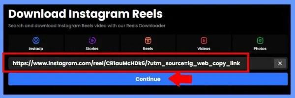 Continue के बटन पर क्लिक करें