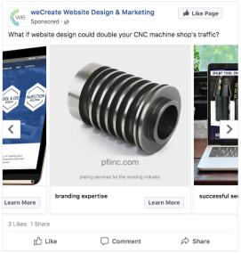 weCreate Facebook Ad