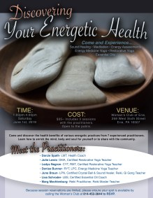 Discover Your Energetic Health Event Flyer