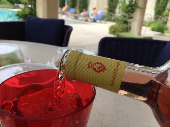 Sampling the local wine at Don Totu