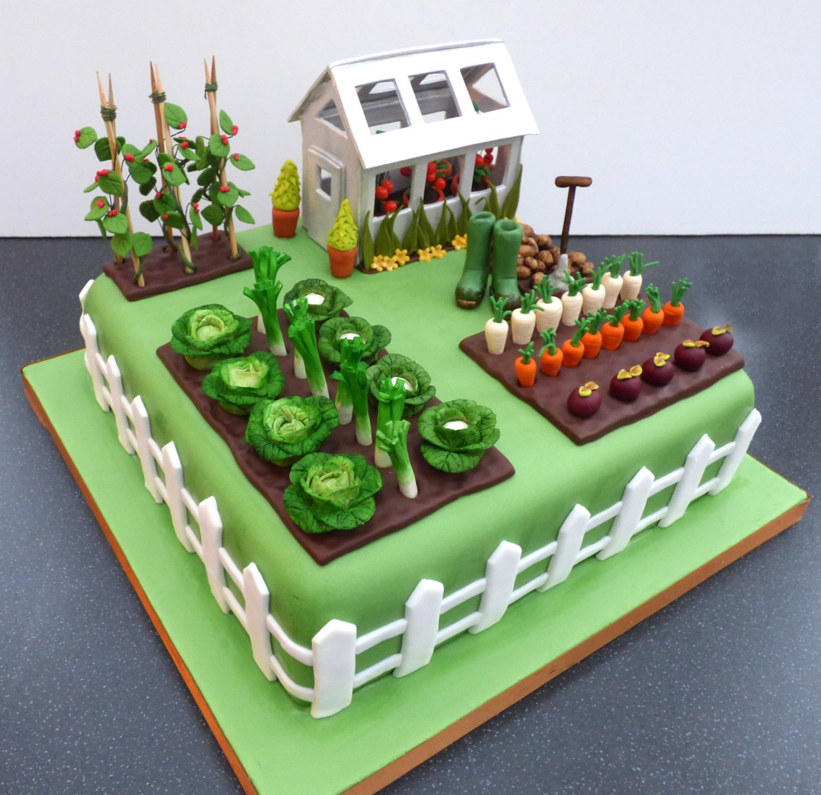 Gardeners Green House Inspired Birthday Cake 171 Susie S Cakes