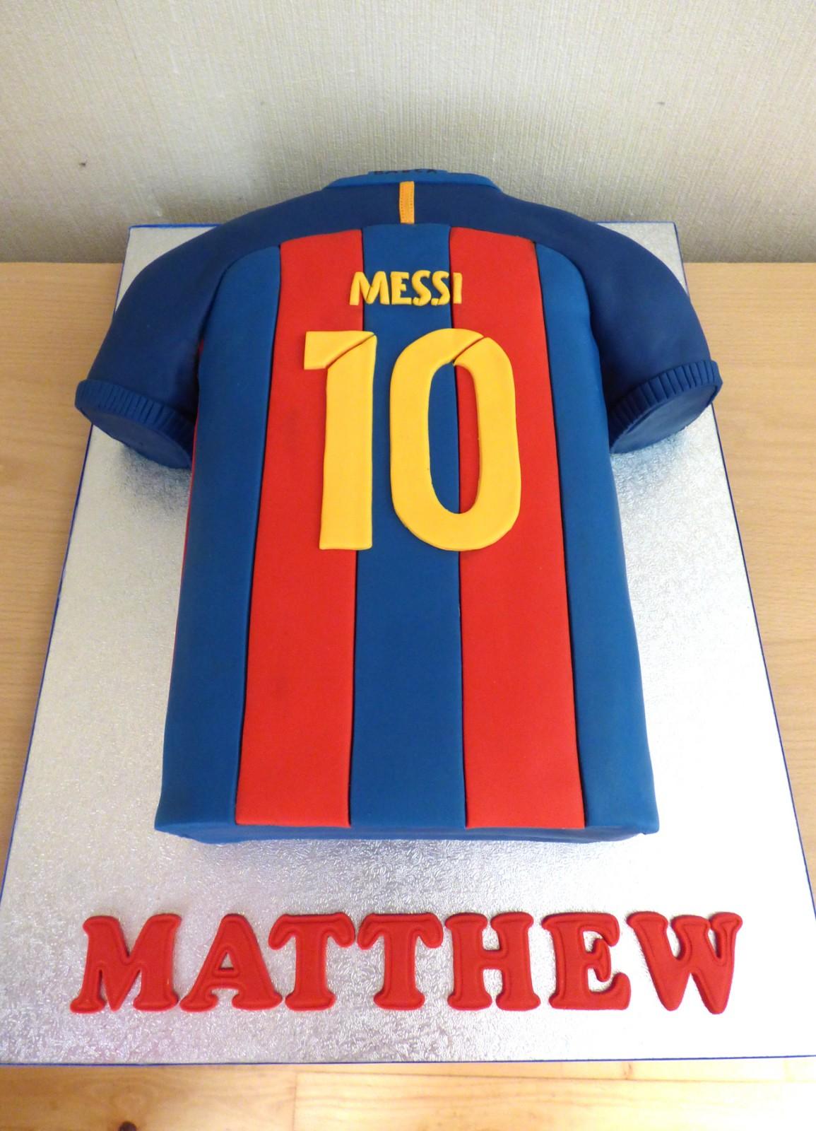 Messi 2017 Barcelona Football Shirt Cake 171 Susie S Cakes