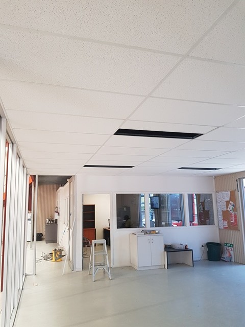 Rondo suspended ceiling fitted with accoustic tiles in Gympie