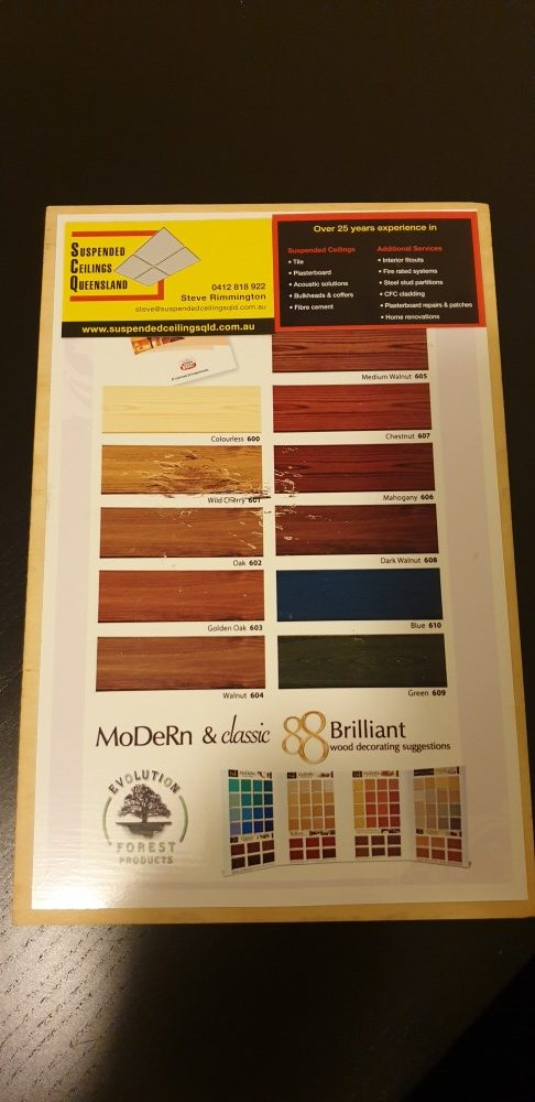 timber ceiling panel colours