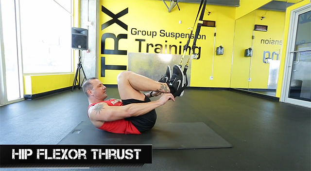 trx leg exercises hip flexor thrust