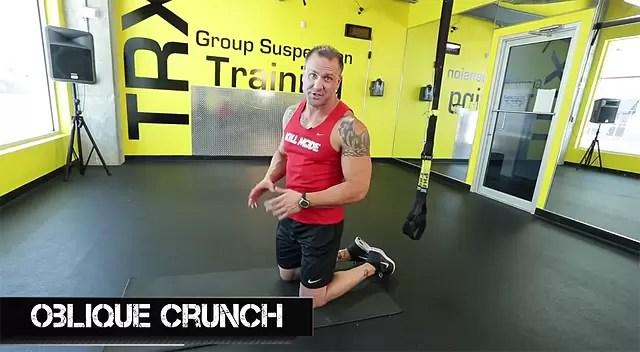 TRX ab exercises oblique crunch
