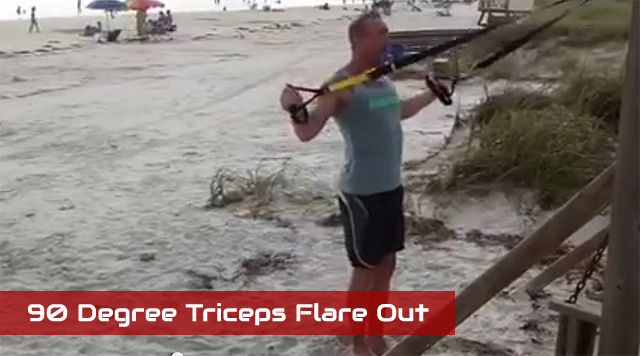 TRX arm exercises 90 Degree Triceps Flare Out