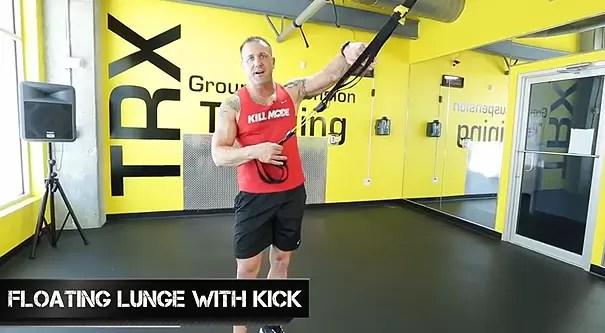 trx leg exercises floating lunge with kick