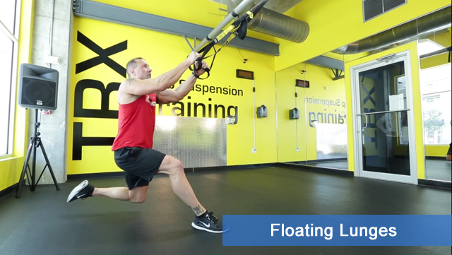 TRX leg exercises - floating lunges