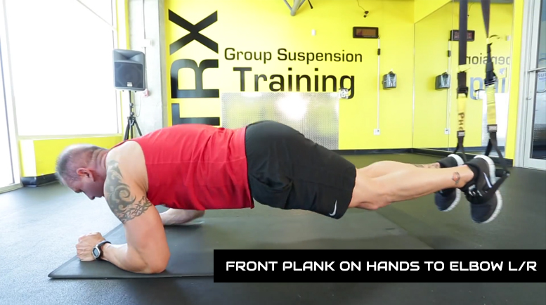 trx ab workouts front plank to elbows
