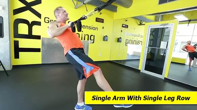 TRX shoulder exercises - Single arm with single leg row