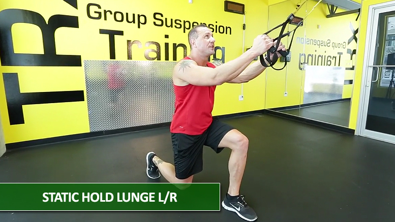 Static hold lunge - TRX leg exercises