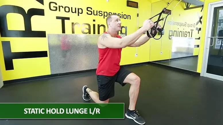 Static hold lunge - TRX leg exercises