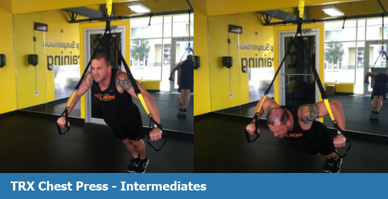 TRX chest press for intermediates
