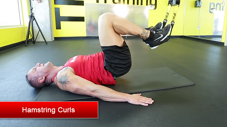 TRX lower body exercises - Hamstring Curls